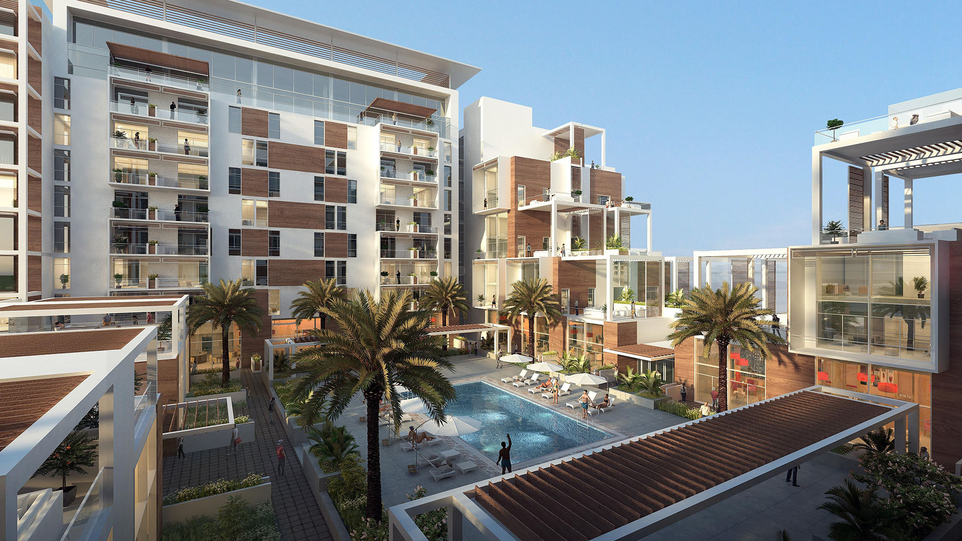 The Terraces Meydan -  View of The Community Internal Area